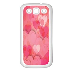 Pink Hearts Pattern Samsung Galaxy S3 Back Case (white)