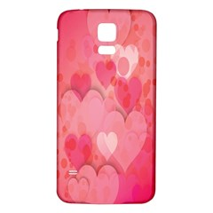 Pink Hearts Pattern Samsung Galaxy S5 Back Case (white)
