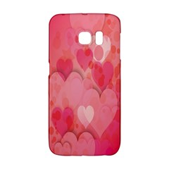 Pink Hearts Pattern Galaxy S6 Edge