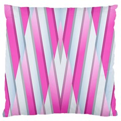 Geometric 3d Design Pattern Pink Large Cushion Case (one Side)