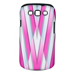 Geometric 3d Design Pattern Pink Samsung Galaxy S Iii Classic Hardshell Case (pc+silicone)