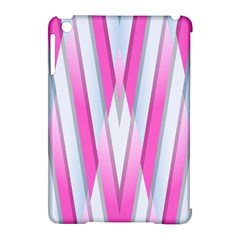 Geometric 3d Design Pattern Pink Apple Ipad Mini Hardshell Case (compatible With Smart Cover)