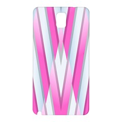 Geometric 3d Design Pattern Pink Samsung Galaxy Note 3 N9005 Hardshell Back Case