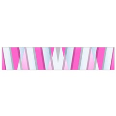 Geometric 3d Design Pattern Pink Small Flano Scarf