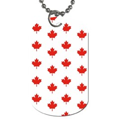 Maple Leaf Canada Emblem Country Dog Tag (two Sides)