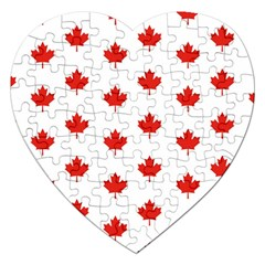 Maple Leaf Canada Emblem Country Jigsaw Puzzle (heart)