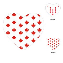 Maple Leaf Canada Emblem Country Playing Cards (heart)