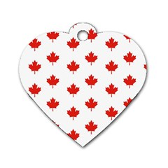 Maple Leaf Canada Emblem Country Dog Tag Heart (one Side)