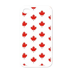 Maple Leaf Canada Emblem Country Apple Iphone 4 Case (white)