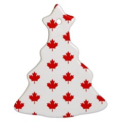 Maple Leaf Canada Emblem Country Christmas Tree Ornament (two Sides)