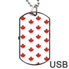 Maple Leaf Canada Emblem Country Dog Tag Usb Flash (two Sides)