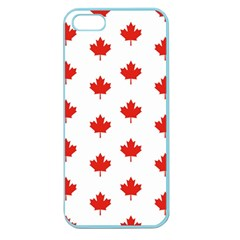 Maple Leaf Canada Emblem Country Apple Seamless Iphone 5 Case (color)