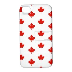 Maple Leaf Canada Emblem Country Apple Iphone 4/4s Hardshell Case With Stand
