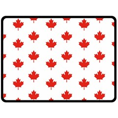Maple Leaf Canada Emblem Country Double Sided Fleece Blanket (large)
