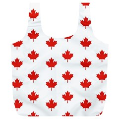 Maple Leaf Canada Emblem Country Full Print Recycle Bags (l)