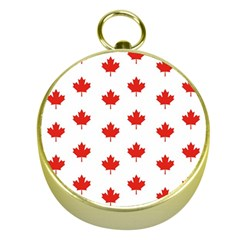Maple Leaf Canada Emblem Country Gold Compasses