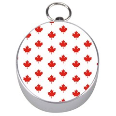 Maple Leaf Canada Emblem Country Silver Compasses