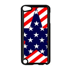 Patriotic Usa Stars Stripes Red Apple Ipod Touch 5 Case (black)
