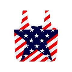 Patriotic Usa Stars Stripes Red Full Print Recycle Bags (s)
