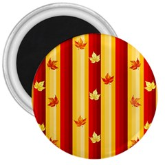 Autumn Fall Leaves Vertical 3  Magnets