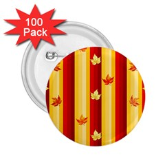 Autumn Fall Leaves Vertical 2 25  Buttons (100 Pack)