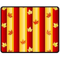 Autumn Fall Leaves Vertical Fleece Blanket (medium)