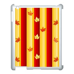 Autumn Fall Leaves Vertical Apple Ipad 3/4 Case (white)