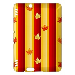 Autumn Fall Leaves Vertical Kindle Fire Hdx Hardshell Case