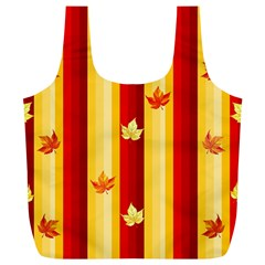 Autumn Fall Leaves Vertical Full Print Recycle Bags (l)