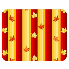Autumn Fall Leaves Vertical Double Sided Flano Blanket (medium)