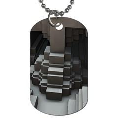 Fractal Render Cube Cubic Shape Dog Tag (one Side)