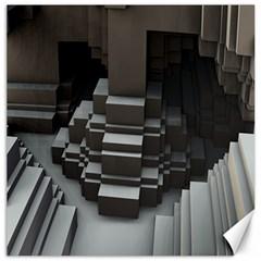 Fractal Render Cube Cubic Shape Canvas 12  X 12