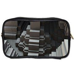 Fractal Render Cube Cubic Shape Toiletries Bags