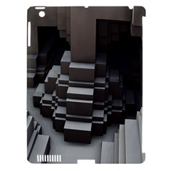 Fractal Render Cube Cubic Shape Apple Ipad 3/4 Hardshell Case (compatible With Smart Cover)