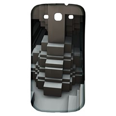Fractal Render Cube Cubic Shape Samsung Galaxy S3 S Iii Classic Hardshell Back Case