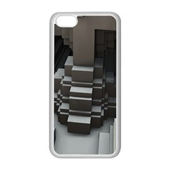 Fractal Render Cube Cubic Shape Apple Iphone 5c Seamless Case (white)