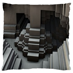Fractal Render Cube Cubic Shape Standard Flano Cushion Case (two Sides)