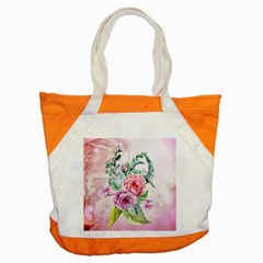 Flowers And Leaves In Soft Purple Colors Accent Tote Bag