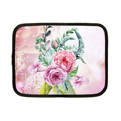 Flowers And Leaves In Soft Purple Colors Netbook Case (small)