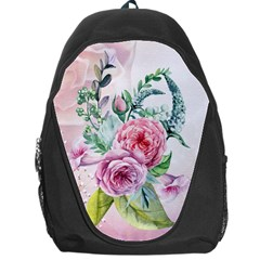 Flowers And Leaves In Soft Purple Colors Backpack Bag