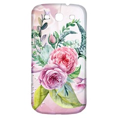 Flowers And Leaves In Soft Purple Colors Samsung Galaxy S3 S Iii Classic Hardshell Back Case