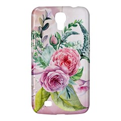 Flowers And Leaves In Soft Purple Colors Samsung Galaxy Mega 6 3  I9200 Hardshell Case