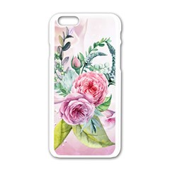Flowers And Leaves In Soft Purple Colors Apple Iphone 6/6s White Enamel Case
