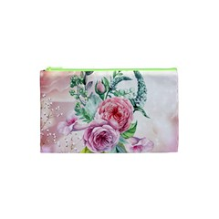 Flowers And Leaves In Soft Purple Colors Cosmetic Bag (xs)