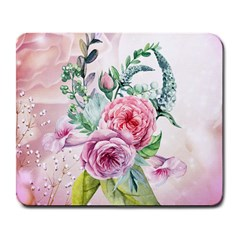 Flowers And Leaves In Soft Purple Colors Large Mousepads