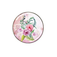 Flowers And Leaves In Soft Purple Colors Hat Clip Ball Marker