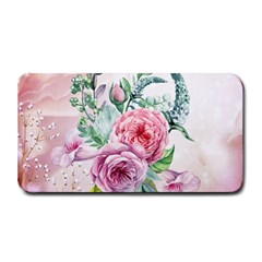 Flowers And Leaves In Soft Purple Colors Medium Bar Mats