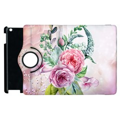 Flowers And Leaves In Soft Purple Colors Apple Ipad 3/4 Flip 360 Case