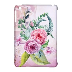 Flowers And Leaves In Soft Purple Colors Apple Ipad Mini Hardshell Case (compatible With Smart Cover)