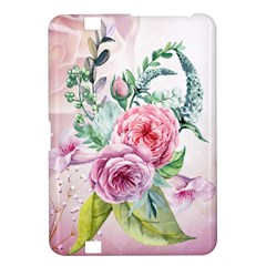 Flowers And Leaves In Soft Purple Colors Kindle Fire Hd 8 9